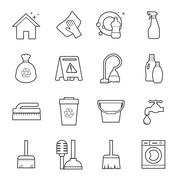 cleaning icon - stock illustration