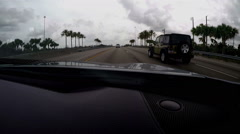 Driving Time Lapse Miami Fl Stock Footage