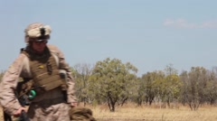 US Marine Squadron Walk - stock footage