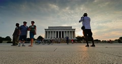 Lincoln Memorial Time Lapse Dusk Establishing Shot Stock Footage