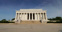Lincoln Memorial Morning Establishing Shot Time Lapse - stock footage