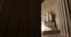 Lincoln Memorial Interior Establishing Shot Stock Footage