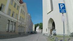 Saint Olaf's Church in Tallinn in Estonia Stock Footage