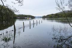 Stock Photo of Calm moody evening landscape over Coniston Water in English Lake District