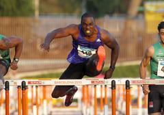 Jamaican athlete Dwight Thomas Stock Photos