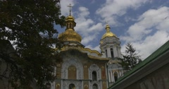 Uspenski Cathedral in Kiev, Cathedral Of Asleeping of Mary, Exterior, Entrance, Stock Footage