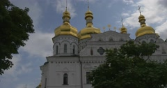 Uspenski Cathedral in Kiev, Cathedral Of Asleeping of Mary, Exterior, Walls and Stock Footage