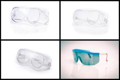 Collection of personal safety glasses Stock Photos