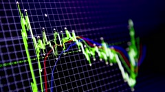 Trading charts movement Stock Footage