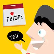 Stock Illustration of thanks god it is friday concept. i love friday