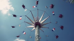 Swing Ride Time Lapse, Paris - 1080p Stock Footage