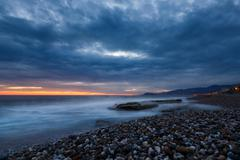 Stock Photo of Sunset in the Bay of Alanya