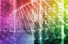 DNA Background Stock Illustration
