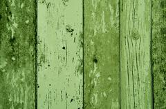 Green color wood plank texture, background Stock Photos