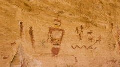 Native American Pictographs Ancient Alien Figures UFO Symbols Stock Footage