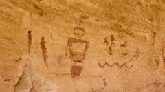 Native American Pictographs Ancient Alien Figures UFO Symbols Stock Footage