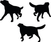 dog silhouette - stock illustration