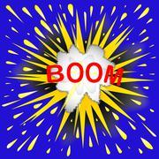 Boom Cartoon Bubble Stock Illustration