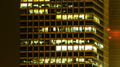 Time lapse, Office building viewed in the evening, Ultra HD Stock Footage