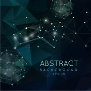 Abstract polygonal backgroun. Low poly  design with connecting d Stock Illustration