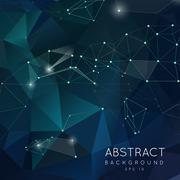 Abstract polygonal backgroun. Low poly  design with connecting d - stock illustration
