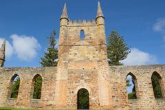 Port Arthur Convict Church Museum Tasmania - stock photo