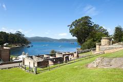Port Arthur Convict Settlement Prison Tasmania - stock photo