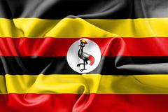 Uganda Flag Stock Illustration