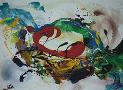 Abstract acrylic  painting Stock Illustration