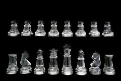 Chess set isolated on black Stock Photos