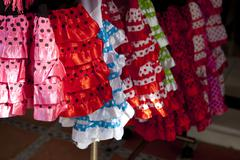 Colorful red pink gipsy costumes Kuvituskuvat