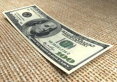 Money. One hundred dollar bill Stock Photos