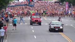 Start of running race Stock Footage