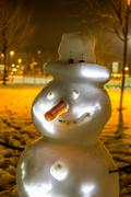 Nightmare Snowman Stock Photos