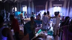 Interior shot of General Hospital Stock Footage