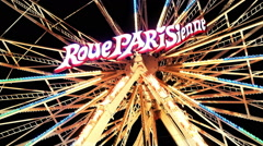 ILLUMINATED FERRIS WHEEL 'PARISIENNE' BY NIGHT [Send Münster, Germany] Stock Footage