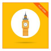 Big Ben icon Stock Illustration