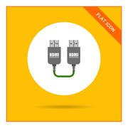 HDMI to HDMI cable Stock Illustration