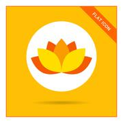 Lotus icon - stock illustration