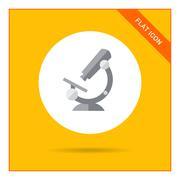 Microscope icon - stock illustration