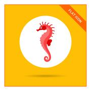 Seahorse icon - stock illustration