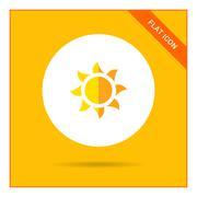 Sun icon - stock illustration