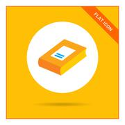 Thick book icon Stock Illustration