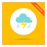 Thunderstorm icon - stock illustration