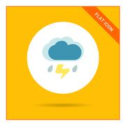 Thunderstorm - stock illustration