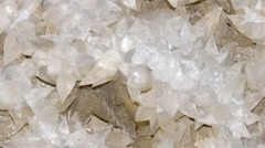 Intricate and beautiful Calcite crystals. Stock Footage