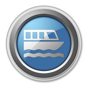 Stock Illustration of Icon, Button, Pictogram Boat Tour