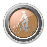 Icon, Button, Pictogram Bicycle - stock illustration