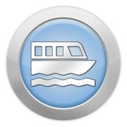 Icon, Button, Pictogram Boat Tour - stock illustration