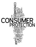 Word Cloud Consumer Protection - stock illustration